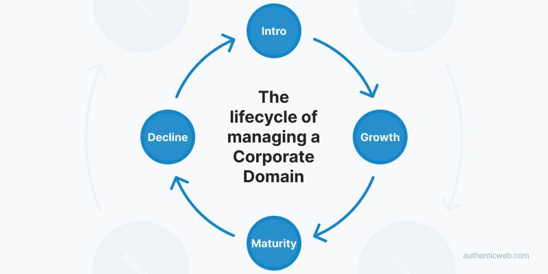 The lifecycle of managing a Corporate Domain