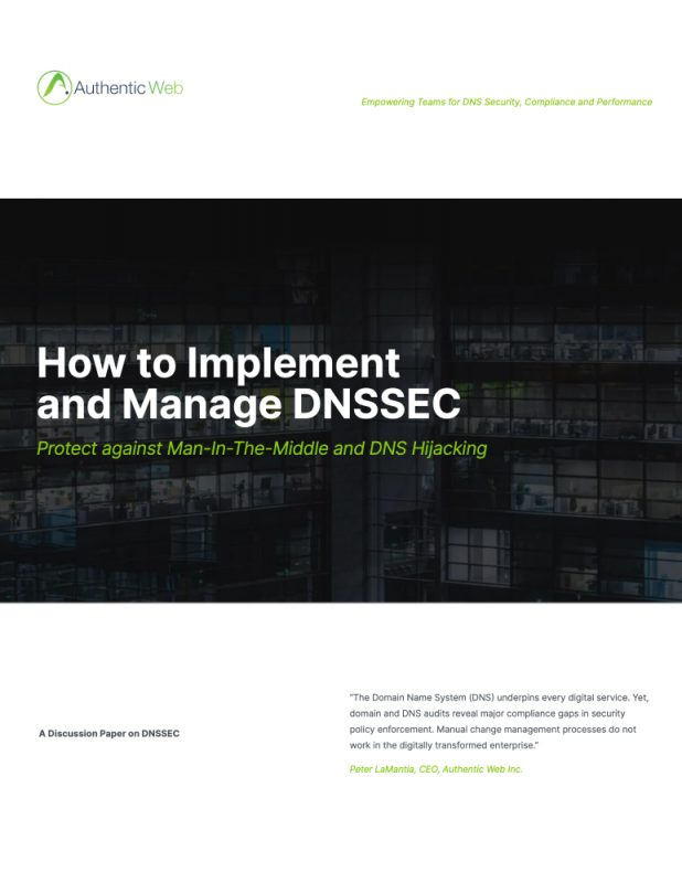 How to Implement and Manage DNSSEC White paper cover
